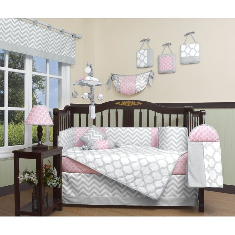 Harriet Bee Guice Chevron 12 Piece Crib Bedding Set & Reviews