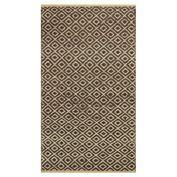 Lenore Hand-Woven Mocha Diamonds Area Rug by Laurel Foundry Modern Farmhouse