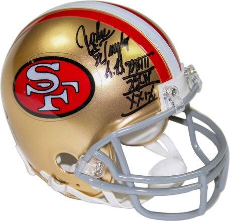 Decorative John Taylor Signed San Francisco 49ers Mini Helmet by Steiner Sports