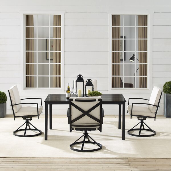 Crase 5 Piece Dining Set with Cushions
