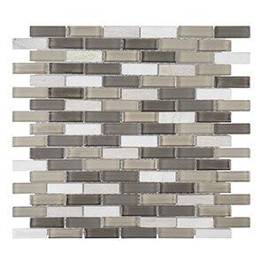 Misty Harbor 11.75 x 11.88  Vanilla Bean Mosaic Tile in White by Kellani