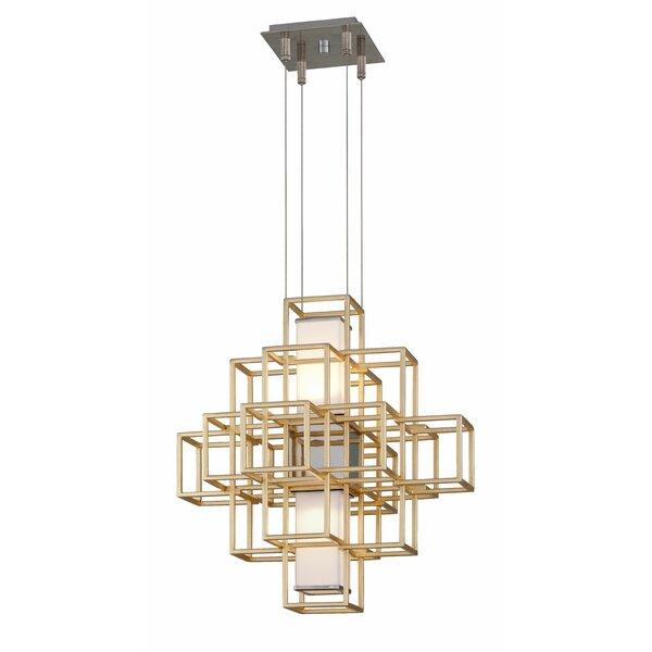 Metropolis 2 - Light Unique / Statement Square / Rectangle Chandelier By Corbett Lighting