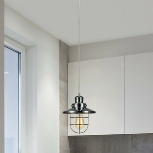 Top Reviews Chatterly 1-Light Cone Pendant By Breakwater Bay
