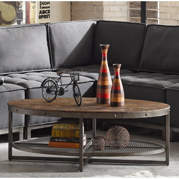 Celestine Coffee Table with Magazine Rack by Trent Austin Design