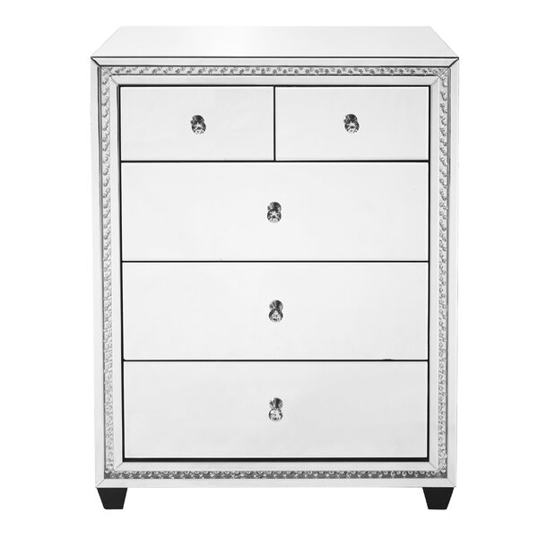Laster Crystal 5 Drawer Chest by Rosdorf Park
