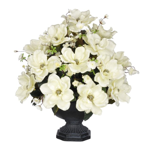 Artificial Magnolia with Cherry Blossoms by House of Silk Flowers Inc.