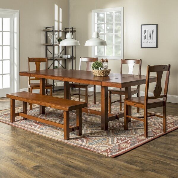 Freya 6 Piece Drop Leaf Dining Set by Loon Peak