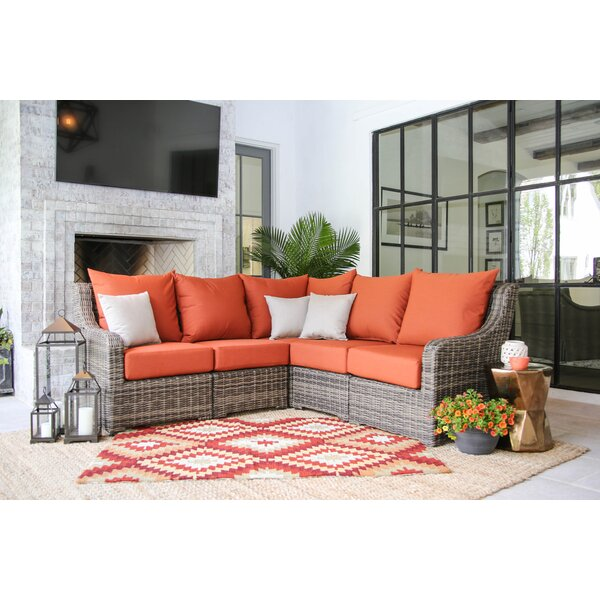 Valentin Patio Sectional with Cushions by Laurel Foundry Modern Farmhouse