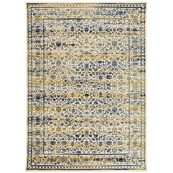 Deckard Damask Ivory Indoor/Outdoor Area Rug by Charlton Home
