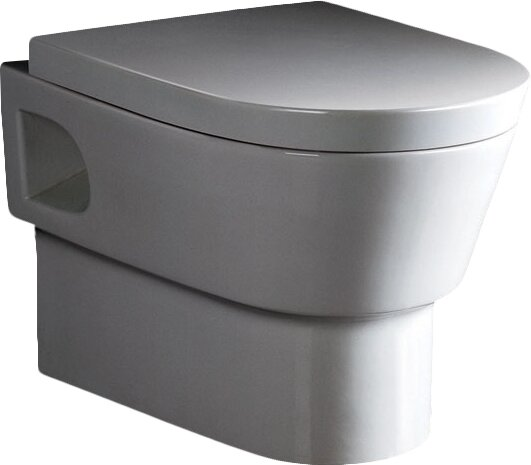 Dual-Flush Elongated Wall-Mount Toilet (Seat Included) by EAGO