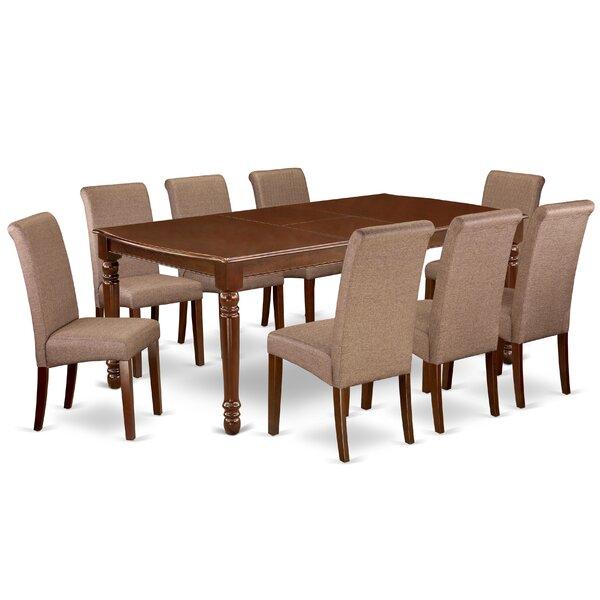 Leadington 9 Piece Extendable Solid Wood Dining Set by Alcott Hill Alcott Hill