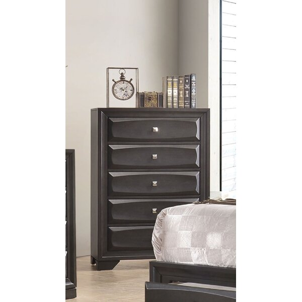 Penley with Safety Stop 5 Drawer Chest by Red Barrel Studio