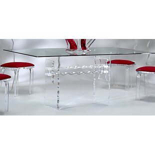 Acrylic Kitchen Table Plastic acrylic kitchen dining tables youll love wayfair crystal dining table workwithnaturefo