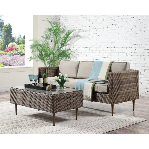 Trevor 2 Piece Sofa Set with Cushions by Modern Rustic Interiors
