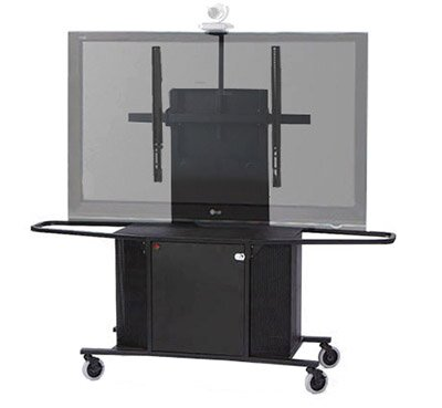 Metal Mobile AV Cart with Single Monitor Mount by VFI