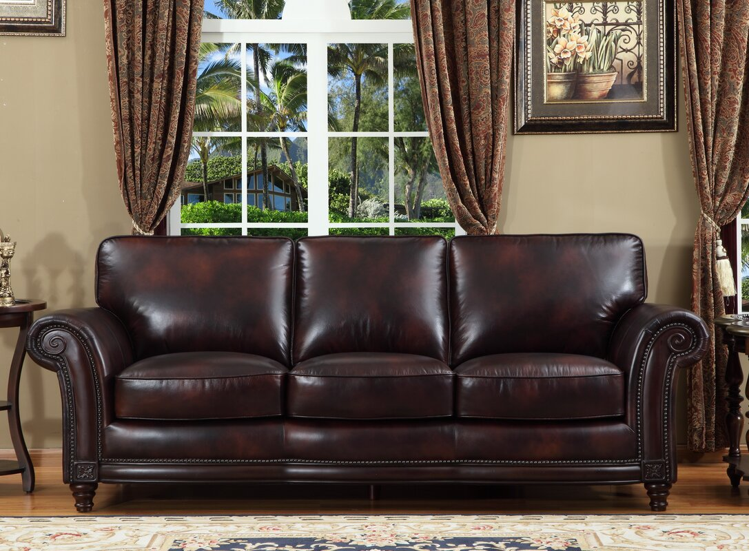 Century Leather Sofa