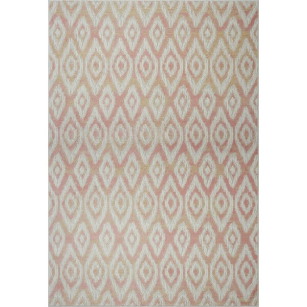 Azure Pink/White Area Rug by Bloomsbury Market