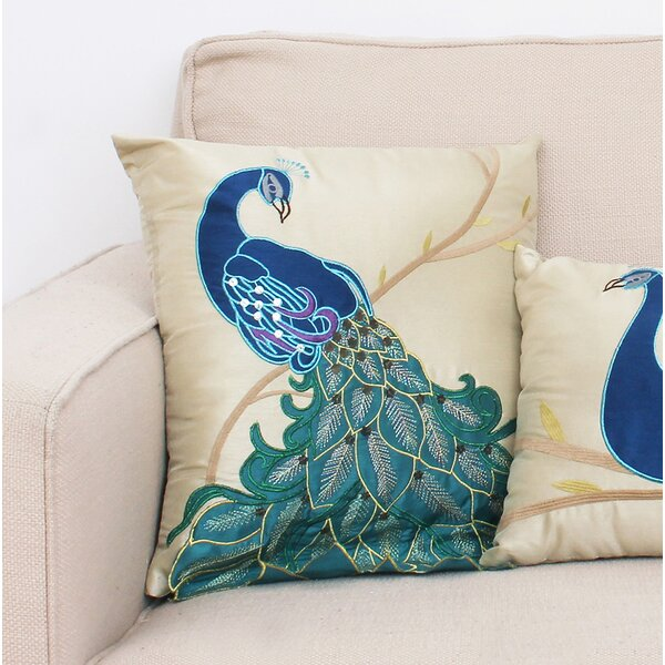 Beatley Peacock Throw Pillow by Bloomsbury Market