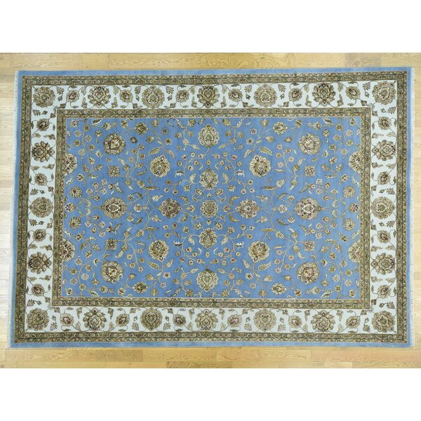 One-of-a-Kind Bear Handwoven Blue Wool Area Rug by Isabelline