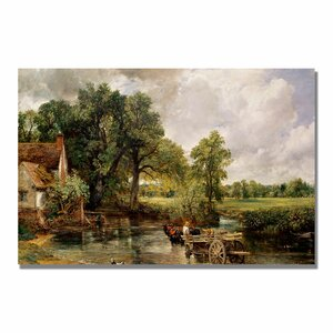 The Hay Wain by John Constable Painting Print on Canvas by Trademark Fine Art