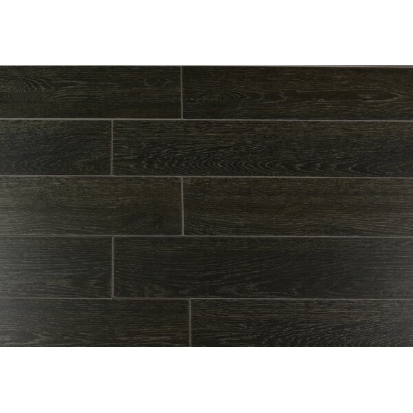 Norway Series 6 x 36 Porcelain Field Tile in Nero by RD-TILE