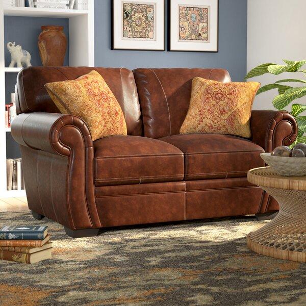 Devonne Leather Loveseat by World Menagerie
