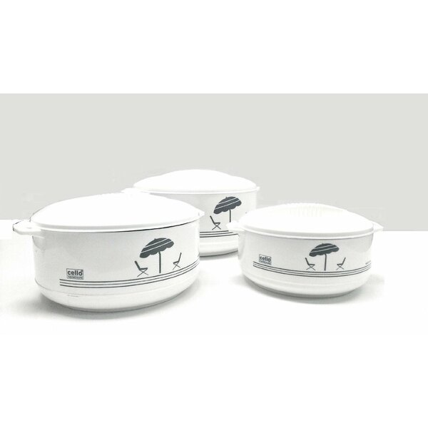 3-Piece Stainless Steel Round Casserole Set by Cello