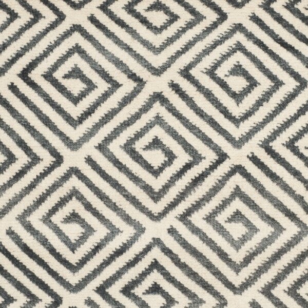 Mosaic Ivory / Grey Geometric Rug by Safavieh