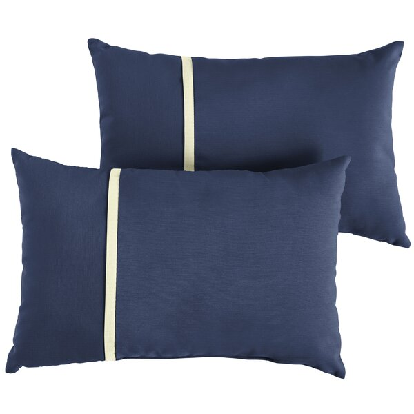 Annapolis Indoor/Outdoor Lumbar Pillow (Set of 2) by Longshore Tides