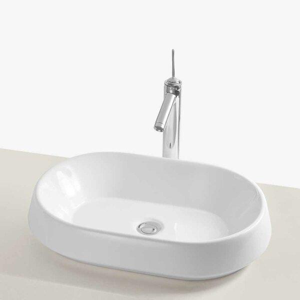 Brit Ceramic Oval Vessel Bathroom Sink By Ronbow.