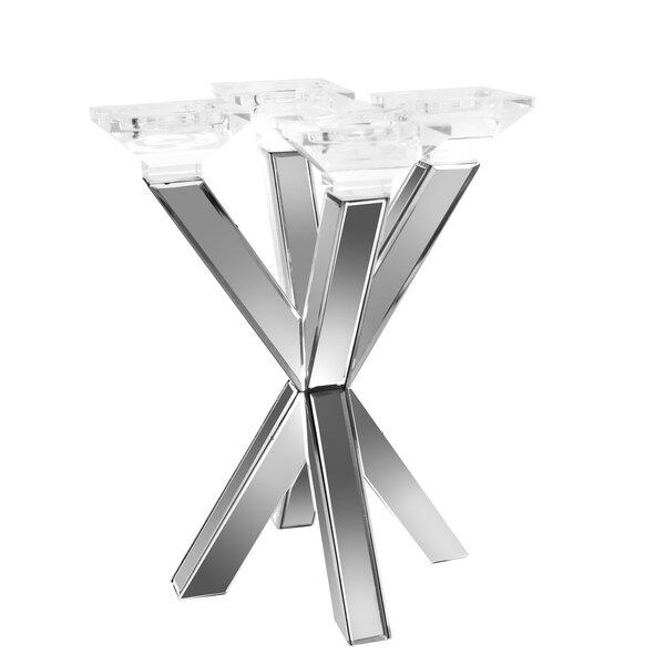 Mirrored 4 Cup Glass Candelabra by Orren Ellis