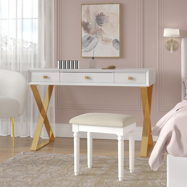 Neria Vanity with Mirror by Willa Arlo Interiors Willa Arlo Interiors