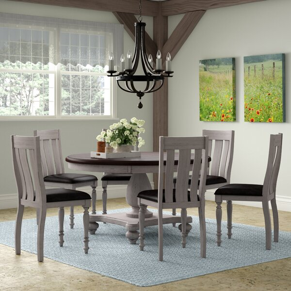 Mixon 7 Piece Solid Wood Dining Set by August Grove August Grove