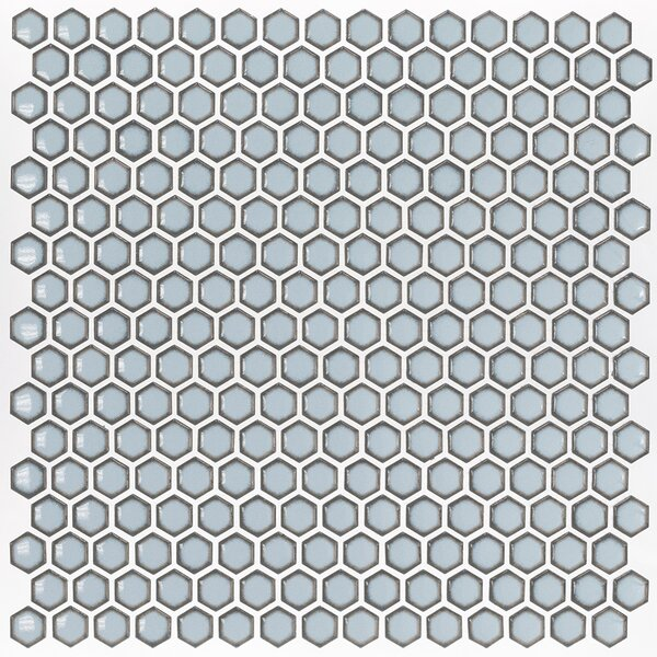 Bliss 0.6 x 0.6 Ceramic Mosaic Tile in Gray by Splashback Tile