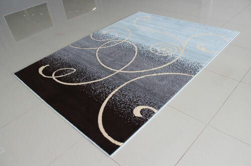 Blue/Dark Brown Area Rug by Rug Tycoon