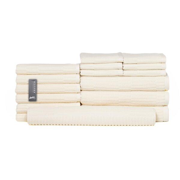 Oxford 16 Piece Turkish Cotton Towel Set by Chortex