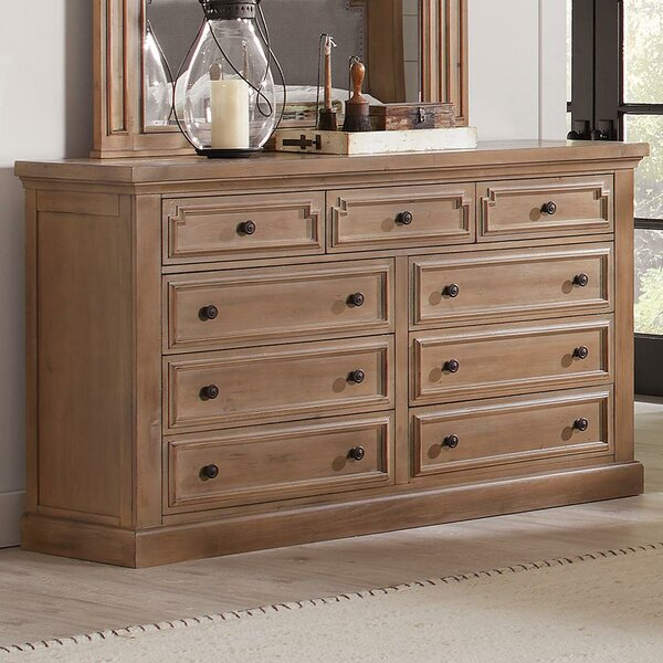 Bewdley 9 Drawer Dresser with Mirror by Gracie Oaks