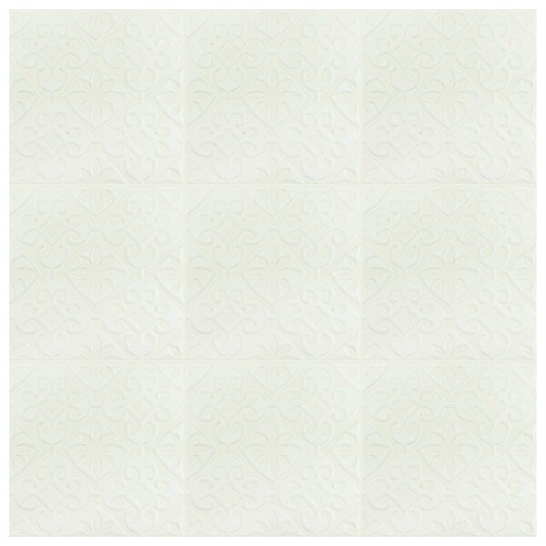 Tres 7.75 x 7.75 Ceramic Field Tile in Valverde White by EliteTile