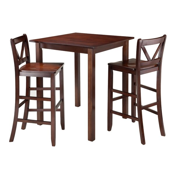 Grote 3 Piece Pub Table Set by Red Barrel Studio Red Barrel Studio