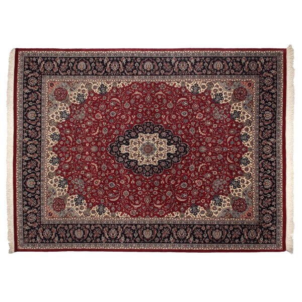 One-of-a-Kind Hand-Woven Wool Wine/Ivory Area Rug by Exquisite Rugs