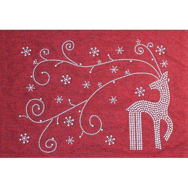 Holiday Rhinestone Reindeer and Snowflakes Placemat by Sparkles Home