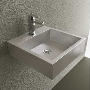 Reviews Metal 18 Wall Mount Bathroom Sink By Cantrio Koncepts