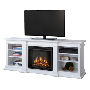 Fresno TV Stand for TVs up to 72 with Fireplace by Real Flame