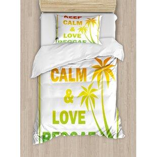 Rasta Keep Calm And Love Reggae Quote Music Themed Duvet Cover Set