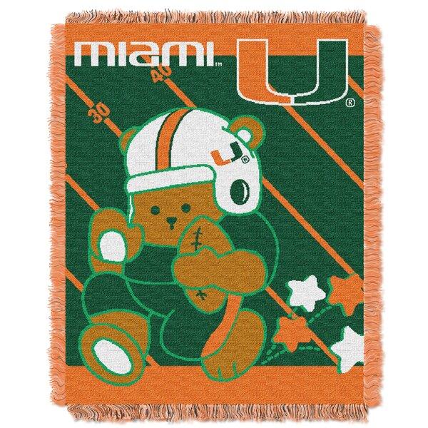 Collegiate Miami Baby Throw by Northwest Co.
