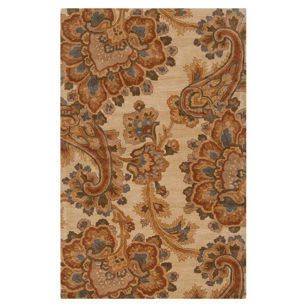Busch Ivory & Brown Area Rug by Alcott Hill