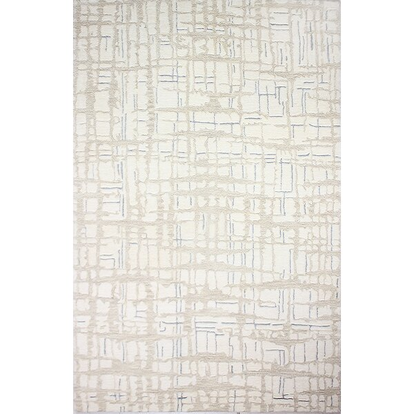 Goddard Artsilk Hand-Knotted Ivory Area Rug by Williston Forge