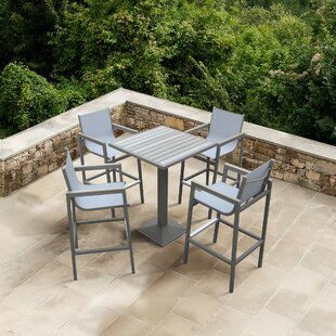 Whittenburg Outdoor 5 Piece Bar Set By Orren Ellis