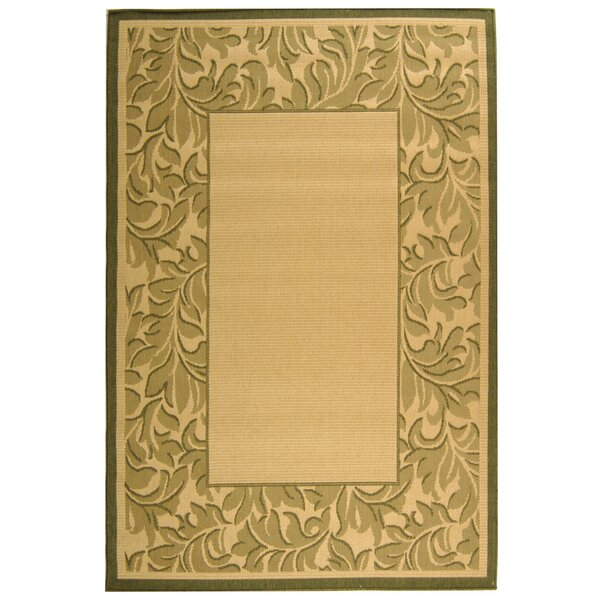 Fenmore Natural/Olive Indoor/Outdoor Area Rug by Charlton Home