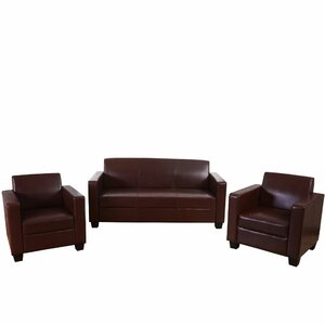 3-tlg. Couchgarnitur Vermillion von Charlton Home